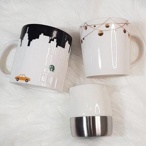 Starbucks Mug Lot of 3, 2012 Collector Series